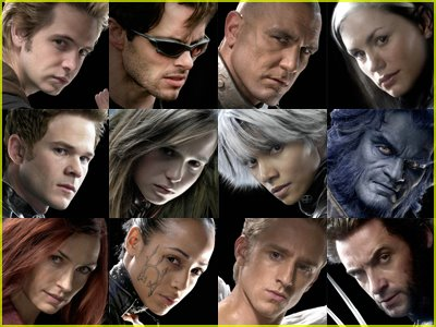 Characters from X-Men The Last Stand